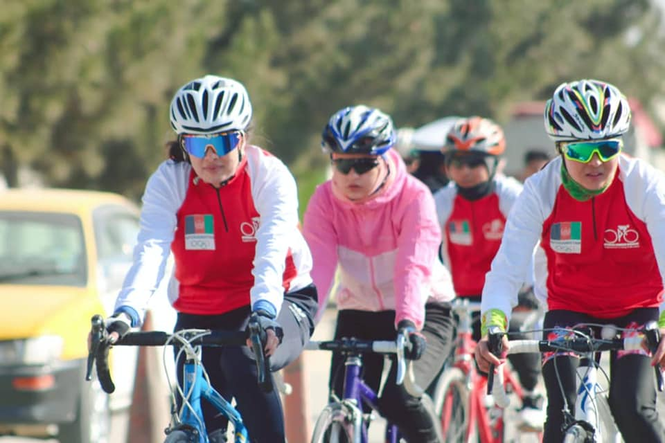 Afghan Women cycling team